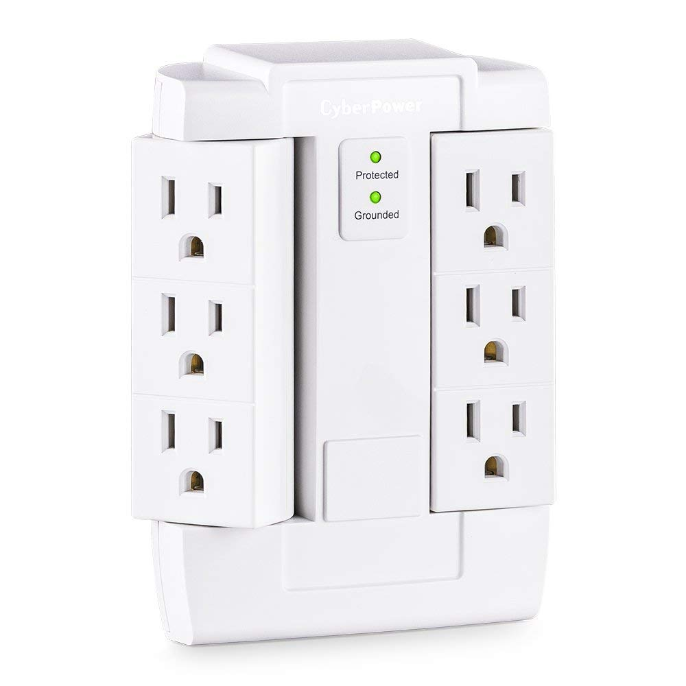 900 Joules Essential Wall Tap with 6-Outlet Surge Suppressor
