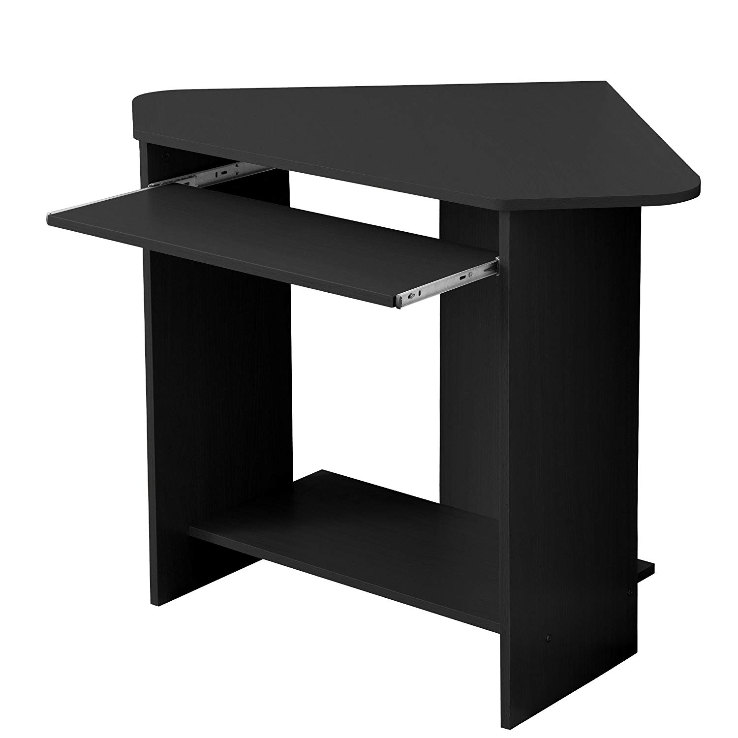 Home Office Compact Corner Desk, Black