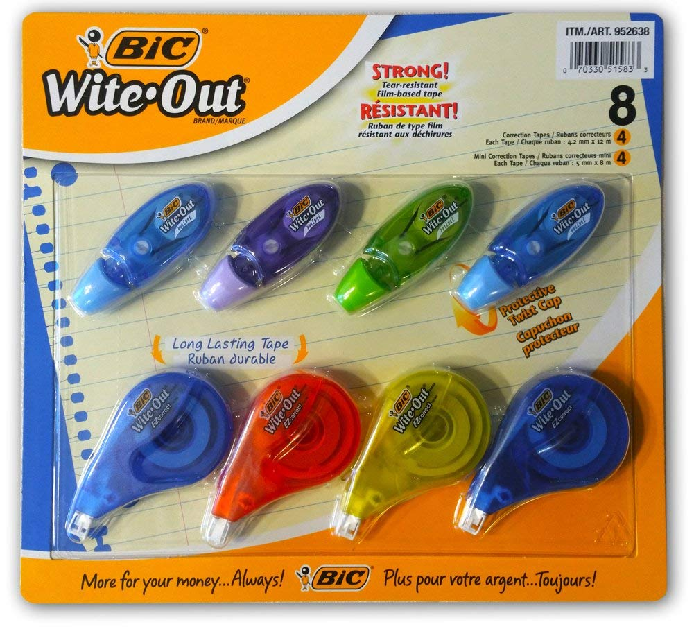 BiC White-Out Tapes 8-Pack