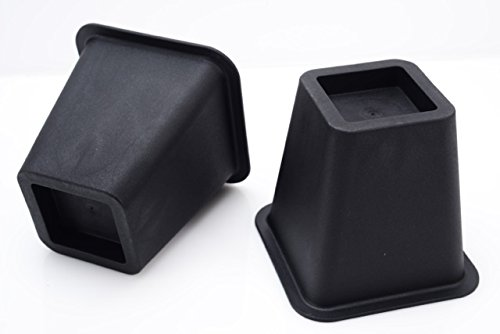 Black bed risers, helps you storage under the bed 4-pack
