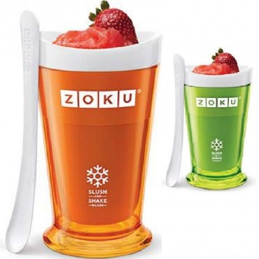 Zoku Slush and Shake Maker (Set of 2 - Orange/Green - 8oz)