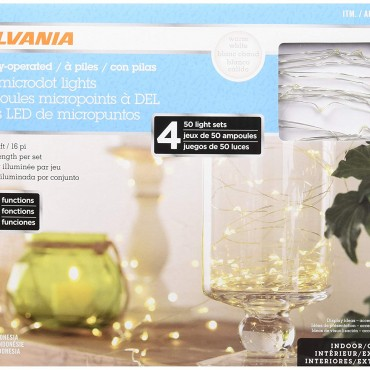 Sylvania LED microdot Lights (4 X 50 Light Sets), 200 Count