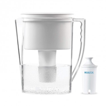Brita Slim Water Filter Pitcher with 1 Replacement Filter, White, 5 Cup